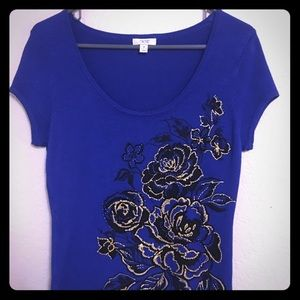 BEAUTIFUL BRAND NEW CACHE EMBROIDERED TOP!!